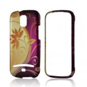 Gold/ Purple Splendid Swirl Rubberized Hard Case for Samsung Galaxy S Relay 4G