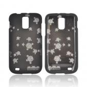 T-Mobile Samsung Galaxy S2 Androitastic Rubberized Hard Case - Black Bubble Bot Invasion