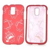 T-Mobile Samsung Galaxy S2 Rubberized Androitastic Hard Case - Red