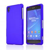 Blue Sony Xperia Z2 Rubberized Hard Case Cover, Great Basic Protection!