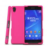 Hot Pink Sony Xperia Z2 Rubberized Hard Case Cover, Great Basic Protection!