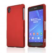 Red Sony Xperia Z2 Rubberized Hard Case Cover, Great Basic Protection!