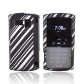 Sanyo Incognito 6760 Rubberized Hard Case - Gray w/ Black Lines