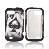 ZTE Fury N850 Rubberized Hard Case - Ace Skull on Black
