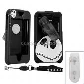 Apple iPhone Rubberized Hard Case and Strap - Jack on Black