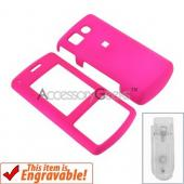 LG CF360 Rubberized Hard Case - Hot Pink