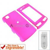 LG Incite Rubberized Hard Case - Hot Pink