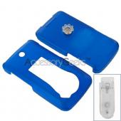 LG Muziq LX570 Rubberized Protective Hard Case - Blue