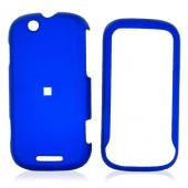 Motorola CLIQ Rubberized Hard Case - Blue