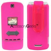 Motorola KRZR K1M Rubberized Protective Case - Hot Pink