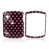 Motorola Hint QA30 Hard Case - Pink Polka Dots on Black