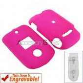 Motorola VU204 Rubberized Hard Case - Hot Pink