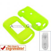 Motorola Rapture VU30 Rubberized Hard Case - Neon Green