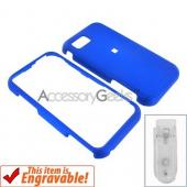 Samsung Eternity Rubberized Hard Case - Blue