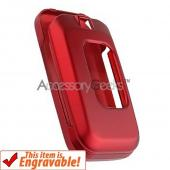 Samsung T229 Rubberized Hard Case - Red