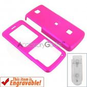 ZTE C78 Rubberized Hard Case - Hot Pink