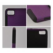 Purple Mesh on Black Silicone Hybrid Case for BlackBerry Z10