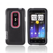 HTC EVO 3D Hard Case w/ Silicone Case - Frost White/ Black