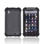 HTC Sensation 4G Textured Hybrid Hard Cover Over Silicone - Black
