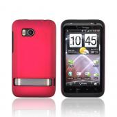 HTC Thunderbolt Rubberized Hard Case on Silicone Case - Rose Pink on Black