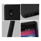 Black Mesh on Black Silicone Hard Case for LG Optimus G (AT&T)