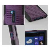Purple Mesh on Black Silicone for Nokia Lumia 920