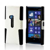 White Mesh on Black Silicone for Nokia Lumia 920