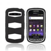 Samsung Rookie R720 Rubberized Hard Case Over Silicone - White/ Black