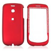 T-Mobile MyTouch 3G Rubberized Hard Case w/ Gems - Red
