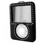 Apple iPod Video Rubberized Hard Case w/ Gem - Black