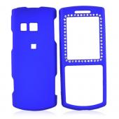 Samsung Messager II R560 Rubberized Hard Case w/ Gems - Blue