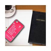 Apple iPhone 4/4S Rubberized Hard Case w/ Black Aluminum Back - 1 Corinthians 13:8A