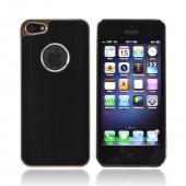 Apple iPhone 5/5S Hard Back Case w/ Aluminum - Black