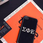 Alpha Phi Alpha AT&T/ Verizon Apple iPhone 4, iPhone 4S Rubberized Hard Case w/ Hot Pink Aluminum Back & 3 Pack Universal Screen Protectors