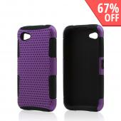 Purple Rubberized Mesh on Black Silicone for HTC First