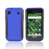Samsung Vibrant/Galaxy S 4G Hard Back Over Crystal Silicone Case - Black/Blue