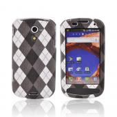 Samsung Epic 4G Textured Hard Case - Argyle Pattern of Gray/Black/White