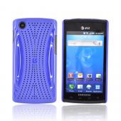 Samsung Captivate i897 Hard Back w/ Perforated Textured Back - Blue