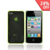 Apple iPhone 4 Ultra Slim Hard Case - Transparent Neon Green