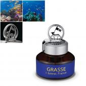 Premium Car Air Freshener, [Aqua Wave] Bullsone Grasse L'esterel - Natural Essential French Oil Scents!