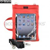Original TurtleBack G-Mate Apple iPad (All Gen.) Genuine Leather Carry Case w/ Shoulder Strap - Sunset Red