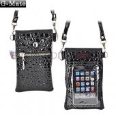 Original TurtleBack G-Mate Universal iPhone/iPod Crocodile Carry Case w/ Shoulder Strap - Ebony Black
