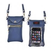 Original TurtleBack G-Mate Universal iPhone/iPod Genuine Leather Carry Case - Delta Blue