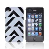 Original Luxmobile Lady Gaga Distortion AT&T/ Verizon Apple iPhone 4, iPhone 4S Hard Case w/ Screen Protector, GA3001 - Black/ White