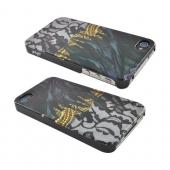 Original Luxmobile Lady Gaga Queen AT&T/ Verizon Apple iPhone 4, iPhone 4S Hard Case w/ Screen Protector, GA5004 - Black Lace & Feathers