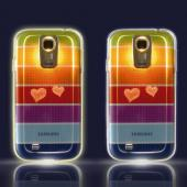 Rainbow Love Stripes VanD Flashing LED TPU Case for Samsung Galaxy S4 - GS4-VDS-RAW (Lights up w/ Incoming Calls & Texts!)