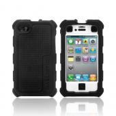 Original Ballistic AT&T/ Verizon Apple iPhone 4, iPhone 4S HC Hard Case Combo w/ Holster & Built-In Screen Protector, HA0778-385 - Black/ White