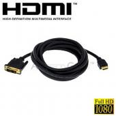 HDMI Male to DVI-D Male Cable HDTV PS3 LCD Plasma Computer Blueray v1.3 - 10 feet