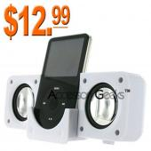 Apple iPod Fold Up Amplified White Speakers