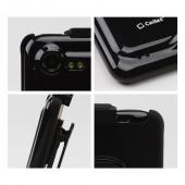 Premium HTC Droid Incredible 2 Rubberized Hard Case & Holster w/ Rotating Belt Clip - Black